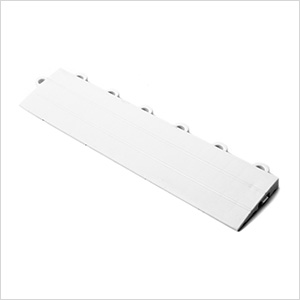 White Garage Floor Tile Ramp - Female