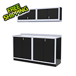 Moduline 5-Piece Aluminum Garage Cabinet Set (Black)