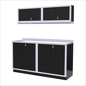 5-Piece Aluminum Garage Cabinet Set (Black)