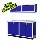 Moduline 5-Piece Aluminum Garage Cabinet Set (Blue)
