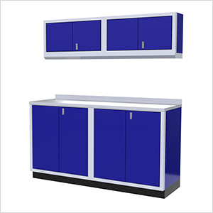 5-Piece Aluminum Garage Cabinet Set (Blue)