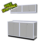 Moduline 5-Piece Aluminum Garage Cabinet Set (Light Grey)