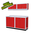 Moduline 5-Piece Aluminum Garage Cabinet Set (Red)