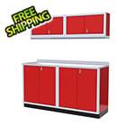 Moduline 5-Piece Aluminum Garage Cabinet Set (Red)