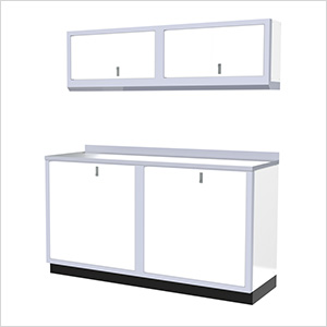 5-Piece Aluminum Garage Cabinet Set (White)