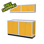 Moduline 5-Piece Aluminum Garage Cabinet Set (Yellow)