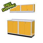 Moduline 5-Piece Aluminum Garage Cabinet Set (Yellow)