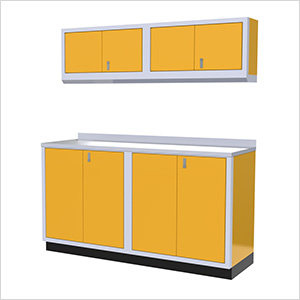 5-Piece Aluminum Garage Cabinet Set (Yellow)