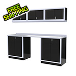 Moduline 7-Piece Aluminum Garage Cabinet Set (Black)