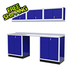 Moduline 7-Piece Aluminum Garage Cabinet Set (Blue)
