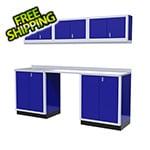 Moduline 7-Piece Aluminum Garage Cabinet Set (Blue)