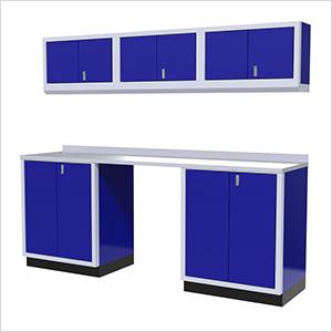 7-Piece Aluminum Garage Cabinet Set (Blue)