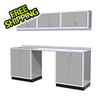 Moduline 7-Piece Aluminum Garage Cabinet Set (Light Grey)