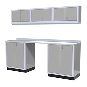 7-Piece Aluminum Garage Cabinet Set (Light Grey)