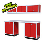 Moduline 7-Piece Aluminum Garage Cabinet Set (Red)