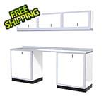 Moduline 7-Piece Aluminum Garage Cabinet Set (White)