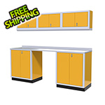 Moduline 7-Piece Aluminum Garage Cabinet Set (Yellow)