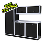 Moduline 6-Piece Aluminum Garage Cabinet Set (Black)
