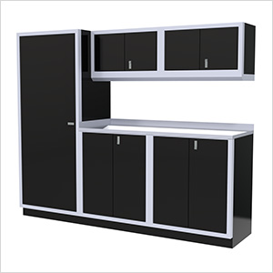 6-Piece Aluminum Garage Cabinet Set (Black)