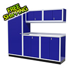 Moduline 6-Piece Aluminum Garage Cabinet Set (Blue)
