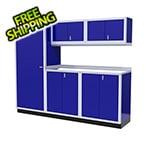 Moduline 6-Piece Aluminum Garage Cabinet Set (Blue)