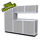 Moduline 6-Piece Aluminum Garage Cabinet Set (Light Grey)