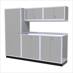 6-Piece Aluminum Garage Cabinet Set (Light Grey)