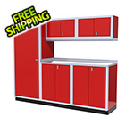 Moduline 6-Piece Aluminum Garage Cabinet Set (Red)