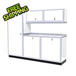 Moduline 6-Piece Aluminum Garage Cabinet Set (White)