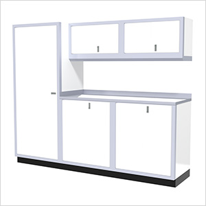6-Piece Aluminum Garage Cabinet Set (White)