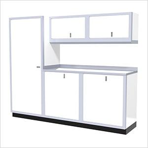 6-Piece Aluminum Garage Cabinet Set (White)