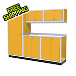 Moduline 6-Piece Aluminum Garage Cabinet Set (Yellow)