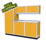 Moduline 6-Piece Aluminum Garage Cabinet Set (Yellow)