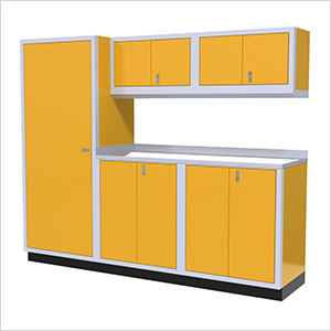 6-Piece Aluminum Garage Cabinet Set (Yellow)