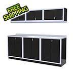 Moduline 7-Piece Aluminum Cabinet Set (Black)