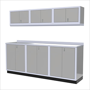 7-Piece Aluminum Cabinet Set (Light Grey)