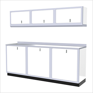 7-Piece Aluminum Cabinet Set (White)