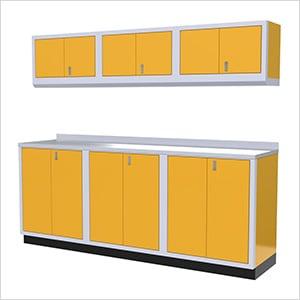 7-Piece Aluminum Cabinet Set (Yellow)