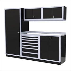 6-Piece Aluminum Cabinet Set (Black)
