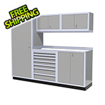 Moduline 6-Piece Aluminum Cabinet Set (Light Grey)