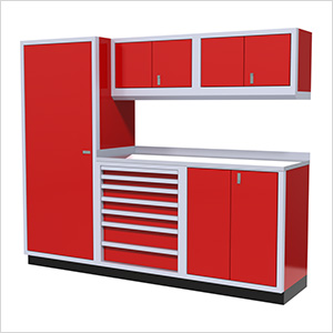 6-Piece Aluminum Cabinet Set (Red)