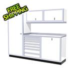 Moduline 6-Piece Aluminum Cabinet Set (White)