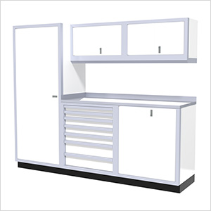 6-Piece Aluminum Cabinet Set (White)