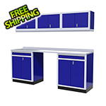 Moduline 7-Piece Aluminum Garage Storage Set (Blue)