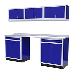 7-Piece Aluminum Garage Storage Set (Blue)