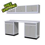 Moduline 7-Piece Aluminum Garage Storage Set (Light Grey)