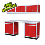 Moduline 7-Piece Aluminum Garage Storage Set (Red)