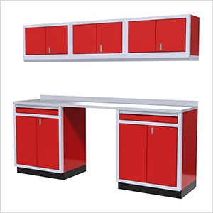 7-Piece Aluminum Garage Storage Set (Red)