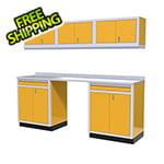Moduline 7-Piece Aluminum Garage Storage Set (Yellow)