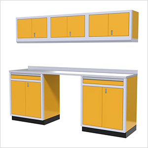 7-Piece Aluminum Garage Storage Set (Yellow)